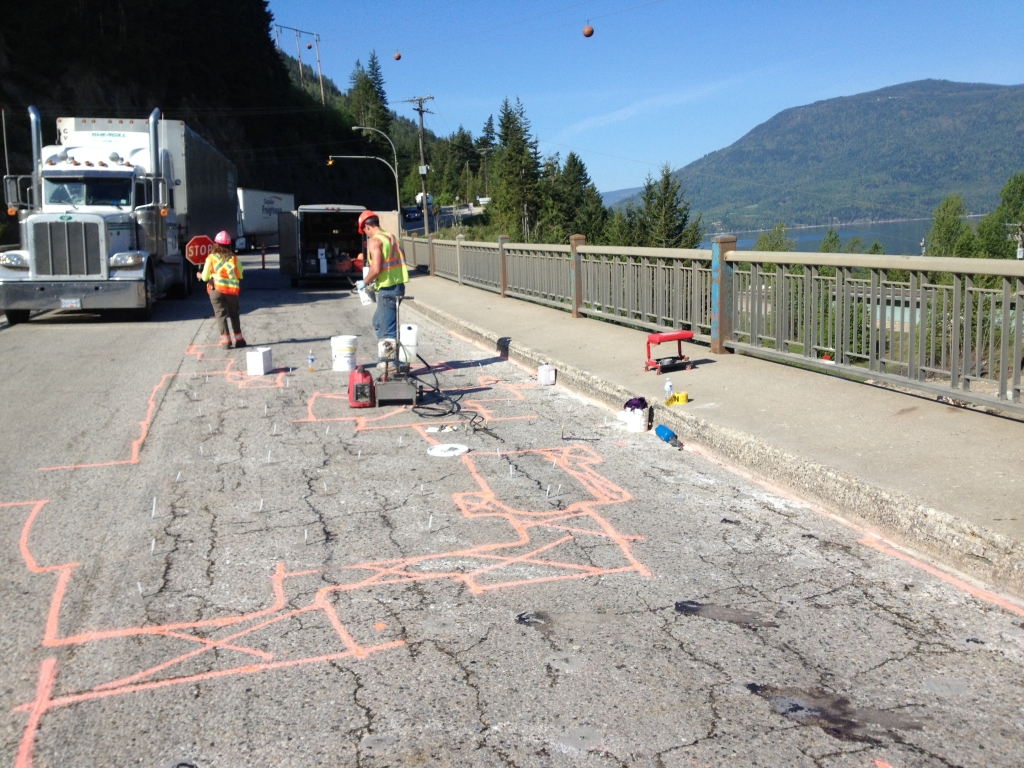 bridge surface delamination repair with epoxy injection